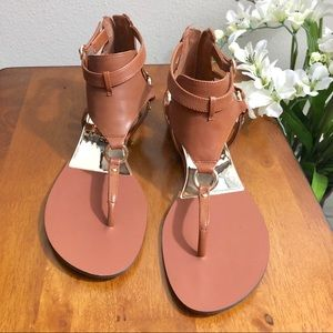 Vince Camuto Sandals Brown Leather Strappy New 8.5